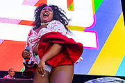 Lizzo performs during Summer Spirit Festival 2018 at Merriweather Post Pavilion in Columbia, MD on Sunday, August 5, 2018.