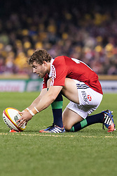 © Licensed to London News Pictures. 29/6/2013. Leigh Halfpenny sets up a penalty kick during the British & Irish Lions 2nd test between Qantas Wallabies Vs British & Irish Lions at Etihad Stadium, Melbourne, Australia. Photo credit : Asanka Brendon Ratnayake/LNP