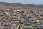 the mirror array at the Ashalim power station is a solar thermal power station in the Negev desert near the kibbutz of Ashalim, in Israel. The station will provide 121 Megawatt of electricity (2.0% of the Israeli consumption), which makes it the largest of its kind in Israel and 5th largest in the world.