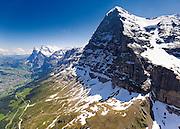 Postkarte A6: Wetterhorn und Eiger, Grindelwald (9614)