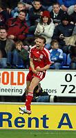 Photo: Paul Greenwood.<br />Wigan Athletic v Liverpool. The Barclays Premiership. 02/12/2006. Liverpool's Craig Bellamy celebrates scoring his second goal