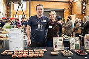 Beet, Beta vulgaris<br /> Showcase: 'Snowglobe', 'Blushing Not Bashful' and 'Moving Target'<br /> Breeder: Solveig Hanson, University of Wisconsin Chef: Jonny Hunter, Underground Food Collective