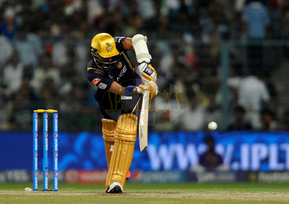 Robin Uthappa of Kolkata Knight Riders bats during match 38 of the Pepsi IPL 2015 (Indian Premier League) between The Kolkata Knight Riders and The Sunrisers Hyderabad held at Eden Gardens Stadium in Kolkata, India on the 4th May 2015.<br /> <br /> Photo by:  Pal Pillai / SPORTZPICS / IPL