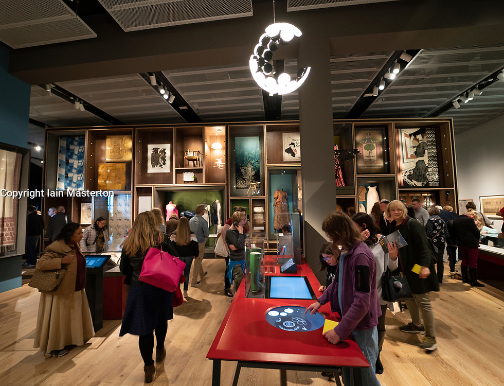 Interior of the Scottish Design Galleries at  new V&A Museum in Dundee , Scotland, UK.