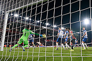 Matthew Ryan (1) of Brighton and Hove Albion makes a save during the Premier League match between Bournemouth and Brighton and Hove Albion at the Vitality Stadium, Bournemouth, England on 21 January 2020.