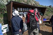 Information board Skomer Island, Pembrokeshire, Wales