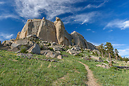 Steamboat Point is located in the Bighorn Mountains west of Dayton and there is a trail that leads to the top.