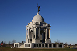 11.01.2016, Museum, Gettysburg, USA, Battle of Gettysburg, im Bild Das Pensylvanian Memorial ist das groesste und teuerste Memorial auf dem Schlachtfeld, Schlachtfeld von Gettysburg // View the historic site of the Battle of Gettysburg at Museum in Gettysburg, United States on 2016/01/11. EXPA Pictures © 2016, PhotoCredit: EXPA/ Eibner-Pressefoto/ Hundt<br /> <br /> *****ATTENTION - OUT of GER*****