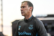 Everton coach Duncan Ferguson during the Premier League match between Aston Villa and Everton at Villa Park, Birmingham, England on 23 August 2019.