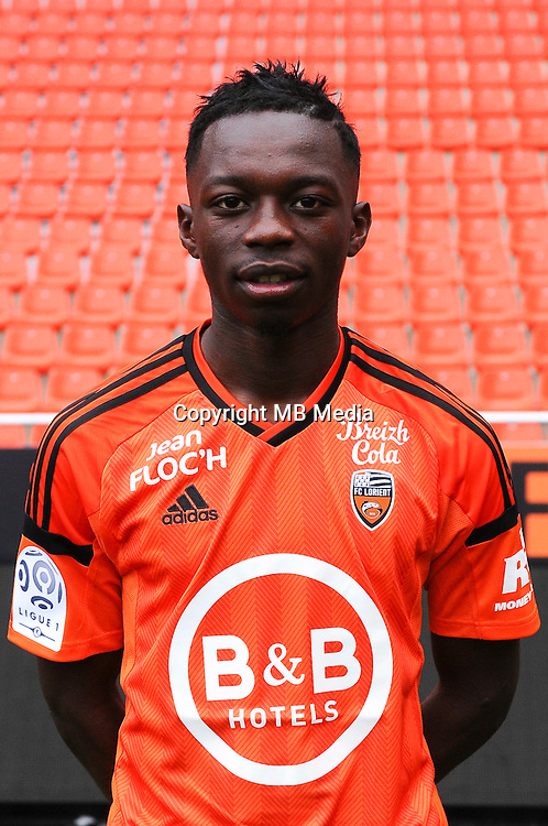Bradley Mazikou during the Fc Lorient photocall for the season 2016/2017 in Lorient on September 16th 2016<br /> Photo : Philippe Le Brech / Icon Sport