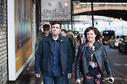© Licensed to London News Pictures . 09/09/2017. Manchester , UK . Greater Manchester Metro Mayor arrives at the event . We Are Manchester reopening charity concert at the Manchester Arena with performances by Manchester artists including  Noel Gallagher , Courteeners , Blossoms and the poet Tony Walsh . The Arena has been closed since 22nd May 2017 , after Salman Abedi's terrorist attack at an Ariana Grande concert killed 22 and injured 250 . Money raised will go towards the victims of the bombing . Photo credit: Joel Goodman/LNP