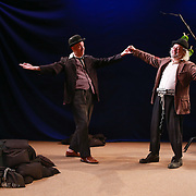 Waiting for Godot performed in yiddish. Vartyn Af Godot. Co-produced by New Yiddish Repertory and Castillo Theater. 2013. NY, NY