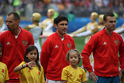 June 14, 2018 - Moscow, Russia - Russian Federation. Moscow. The Luzhniki Stadium. Match Opening of the World Cup 2018. Russia - Saudi Arabia. Solemn opening ceremony of the FIFA World Cup 2018. FIFA World Cup 2018. Player of the Russian national football team (in red)..Yuri Zhirkov; (Credit Image: © Russian Look via ZUMA Wire)