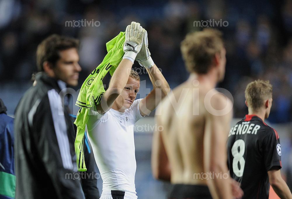 FUSSBALL   CHAMPIONS LEAGUE   SAISON 2011/2012     13.08.2011 FC Chelsea London - Bayer 04 Leverkusen Torwart LENO (Bayer 04 Leverkusen)