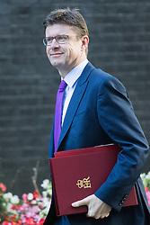 Downing Street, London, October 11th 2016. Government ministers arrive for the first post-conference cabinet meeting. PICTURED: Secretary of State for Business, Energy and Industrial Strategy Greg Clark.
