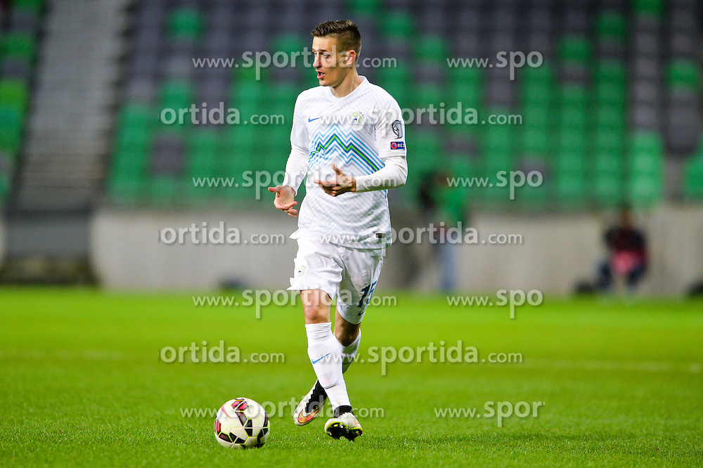Struna Andraž of Slovenia during football match between NationalTeams of Slovenia and San Marino in Round 5 of EURO 2016 Qualifications, on March 27, 2015 in SRC Stozice, Ljubljana, Slovenia. Photo by Mario Horvat / Sportida / Sportida