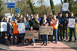 © Licensed to London News Pictures. 26/4/2016. Coventry, UK. Coventry junior doctors going on strike at the University Hospital, Coventry. Photo credit : Dave Warren/LNP
