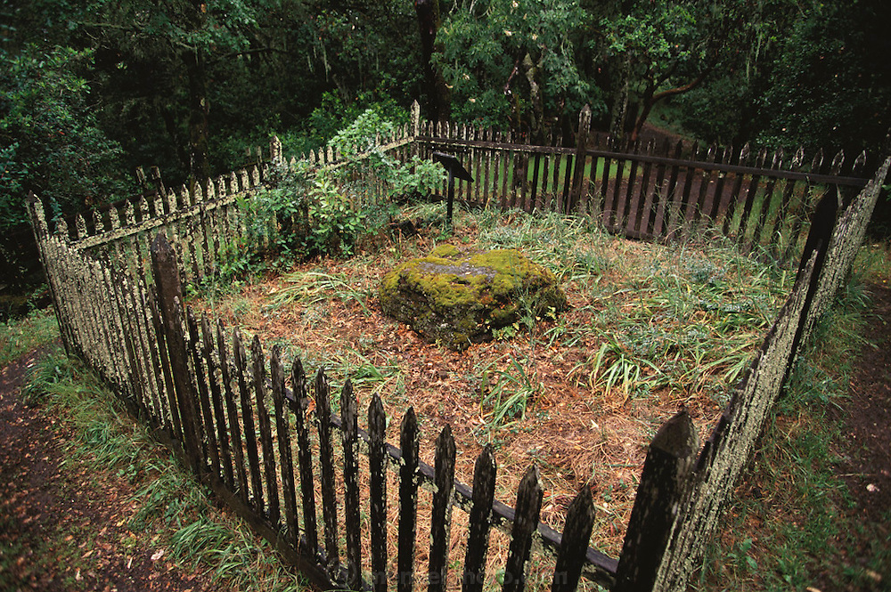 Jack London State Historical Park, in Glen Ellen, California (Sonoma County). Jack London's grave.
