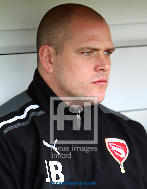 Picture by John Rainford/Focus Images Ltd. 07506 538356.17/03/12.Morecambe manager Jim Bentley during the Npower League 2 match at Underhill stadium, Barnet.