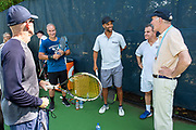 Photography &copy;Mara Lavitt<br /> August 24, 2018<br /> <br /> The Swensen/Salovey Golf/Tennis Extravaganza. Tennis on the Yale Practice Courts and cocktail reception at the Connecticut Tennis Center.