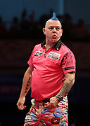 Peter Wright during the last 8 of the World Matchplay Darts 2019 at Winter Gardens, Blackpool, United Kingdom on 26 July 2019.
