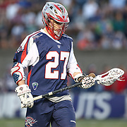 Kevin Buchanan #27 of the Boston Cannons is seen during the game at Harvard Stadium on May 17, 2014 in Boston, Massachuttes. (Photo by Elan Kawesch)
