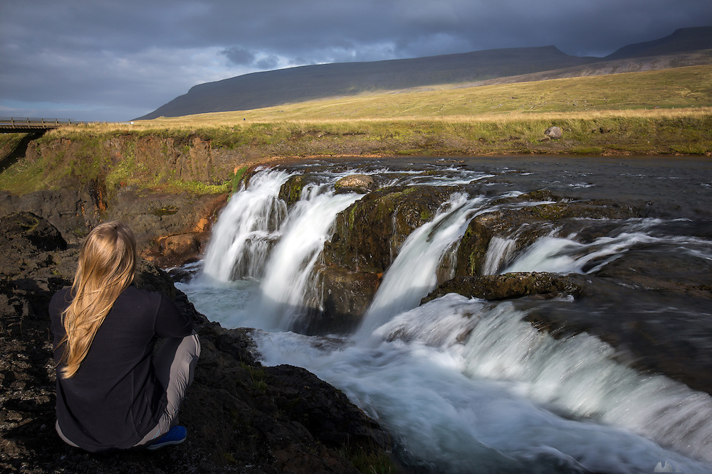 The delightful Kolufossar waterfalls in north-west Iceland