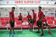 FC Goa players during the 1st semi final match of the Hero Super Cup between East Bengal and FC Goa held at the Kalinga Stadium, Bhubaneswar, India on the 16th April 2018<br /> <br /> Photo by: Deepak Malik / SPORTZPICS