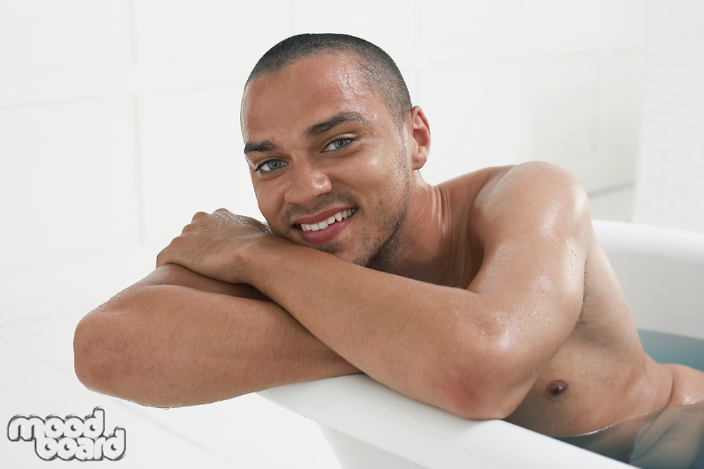 Man Taking a Bath