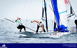 From 9 to 16 September 2018, the Tokyo 2020 Olympic Sailing Competition venue in Enoshima, Japan, will host sailors for the first event of the 2019 World Cup Series. More than 450 sailors from 45 nations will race in the 10 Olympic events.  ©PEDRO MARTINEZ/SAILING ENERGY/WORLD SAILING<br /> 13 September, 2018.