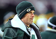 (2005)-Green Bay's Brett Favre on the bench late in the 3rd quarter. Favre didn't go back into the game. .The Green Bay Packers traveled to Baltimore to play the Ravens in Monday Night Football, Monday December 18, 2005. Steve Apps-State Journal.