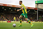 Norwich City midfielder Marco Stiepermann (18) on the ball during the EFL Sky Bet Championship match between Norwich City and Queens Park Rangers at Carrow Road, Norwich, England on 6 April 2019.