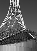 National Gallery of Victoria (NGV) Arts Centre wireframe tower - Melbourne <br />