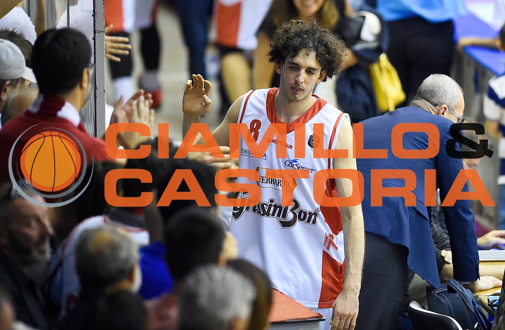Amedeo Della Valle<br /> Grissin Bon Pallacanestro Reggio Emilia - The Flexx Pistoia Basket<br /> Lega Basket Serie A 2016/2017<br /> Reggio Emilia, 30/04/2017<br /> Foto A.Giberti / Ciamillo - Castoria