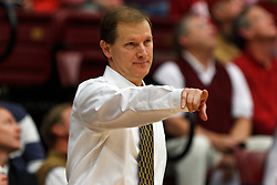 Feb 19, 2012; Stanford CA, USA; Oregon Ducks head coach Dana Altman on the sidelines against the Stanford Cardinal during the second half at Maples Pavilion. Oregon defeated Stanford 68-64. Mandatory Credit: Jason O. Watson-US PRESSWIRE