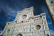 Il Duomo di Firenze, Cathedral of Florence, and campanile bell tower in Piazza di San Giovanni, Tuscany, Italy RESERVED USE - NOT FOR DOWNLOAD - FOR USE CONTACT TIM GRAHAM