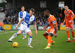 Ollie Clarke of Bristol Rovers is challenged by Abu Ogogo of Shrewsbury Town - Mandatory by-line: Neil Brookman/JMP - 03/02/2018 - FOOTBALL - Memorial Stadium - Bristol, England - Bristol Rovers v Shrewsbury Town - Sky Bet League One