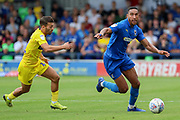 AFC Wimbledon defender Terell Thomas (6) dribbling during the EFL Sky Bet League 1 match between AFC Wimbledon and Wycombe Wanderers at the Cherry Red Records Stadium, Kingston, England on 31 August 2019.