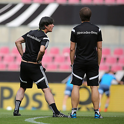 "08.06.2015, RheinEnergie Stadion, Koeln, GER, Nationalmannschaft, Training, im Bild National-, Bundestrainer Joachim ""Jogi"" Loew neben Co-Trainer Thomas Schneider // during a trainingssession of the german national team at the RheinEnergie Stadion in Koeln, Germany on 2015/06/08. EXPA Pictures © 2015, PhotoCredit: EXPA/ Eibner-Pressefoto/ Schüler<br /> <br /> *****ATTENTION - OUT of GER*****"