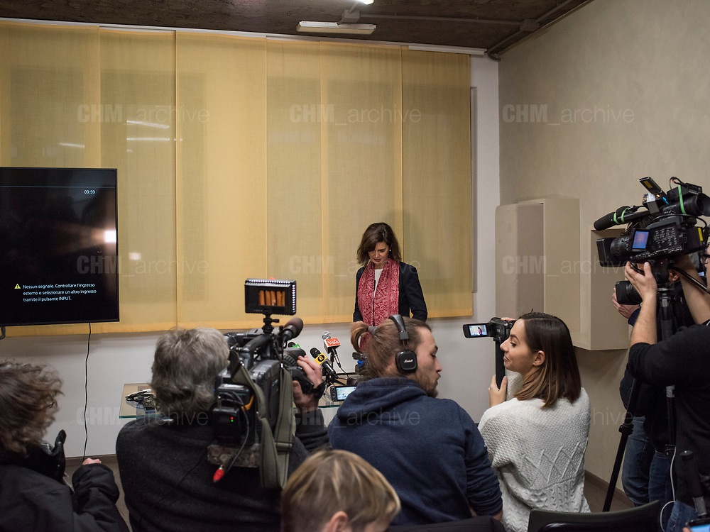 Laura Boldrini, presidente della Camera dei Deputati, durante l'apertura della sua campagna elettorale. Milano, 7 febbraio 2018. Guido Montani / OneShot<br /> <br /> Laura Boldrini, president of the Chamber of Deputies, during the opening of her electoral campaign. Milan, 7 february 2018. Guido Montani / OneShot