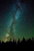 The Mily way lights up the night sky in Montana.