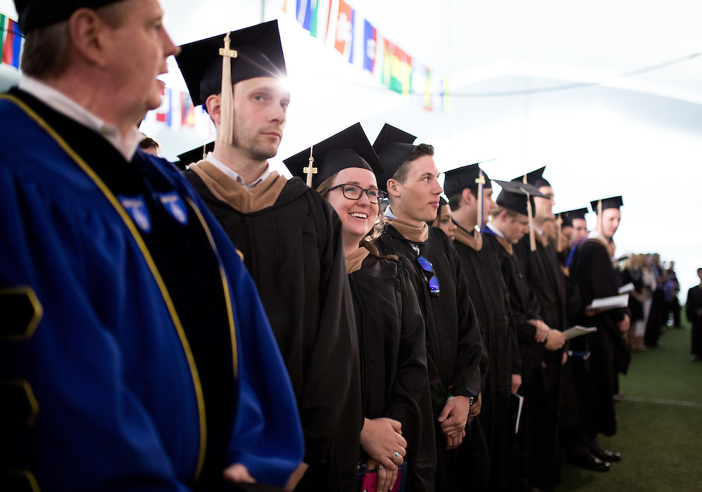 Waltham, MA 05/21/2016<br /> Bentley University Ungergraduate Commencement<br /> Alex Jones / www.alexjonesphoto.com