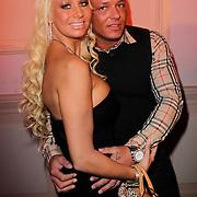 NLD/Hilversum/20120223 - Voorjaarspresentatie RTL5 2012, Barblie, Samantha de Jong en partner Michael