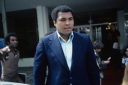 January 1, 1979 - Hollywood, California, U.S. - Muhammad Ali in April 1979 at the Beverly Hilton Hotel in Los Angeles CA. *** HIGHER RATES APPLY: MUST CALL TO NEGOTIATE *** NO TABS OR SKINS *** NO ITALY *** NO SALES TO AMI PRODUCTIONS  (Credit Image: © Armando Gallo via ZUMA Studio)