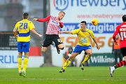 Exeter City's Jayden Stockley during the Sky Bet League 2 match between Exeter City and Accrington Stanley at St James' Park, Exeter, England on 23 January 2016. Photo by Graham Hunt.