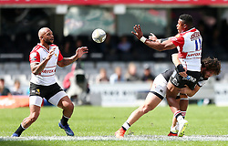 Durban. 201018. Aphiwe Dyantyi of the Xerox Golden Lions during the Currie Cup, Semi Final match between Cell C Sharks and Xerox Golden Lions at Jonsson Kings Park in Durban, South Africa. Picture Leon Lestrade. African News Agency. ( ANA )