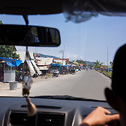 The streets of Padang on our way to the dock. Traveling to Kandui, Mentawais Islands, Indonesia March  19, 2013.