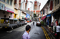 A street scene in Little India, Singapore.