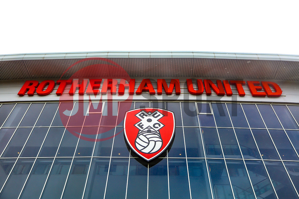 A general view of the Aesseal New York Stadium, home to Rotherham United - Mandatory by-line: Ryan Crockett/JMP - 16/03/2019 - FOOTBALL - Aesseal New York Stadium - Rotherham, England - Rotherham United v Norwich City - Sky Bet Championship