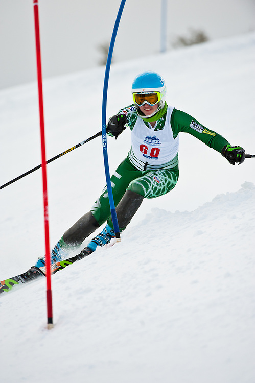 Women's Slalom action from the USCSA Western Regional Championship event held at Bogus Basin, Boise, Idaho, Feb 17-19, 2011.